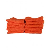 Bath & Home Egyptian Face Towel Orange Pack Of 12 (186)