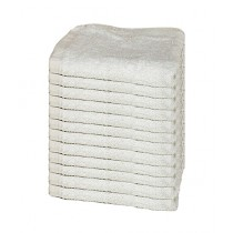 Bath & Home Egyptian Face Towel White Pack Of 12 (198)