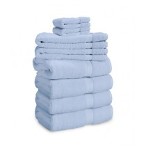 Bath & Home Gift Towel Set Sky Blue Pack of 8