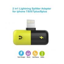 BazingaPk 2 In 1 Lighting Splitter Adapter For iPhone
