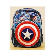 BazingaPk Avengers Captian America 3D School Backpack For Kids