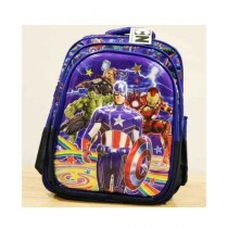 BazingaPk Captian America 3D School Backpack For Kids