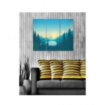 BednShines Digitally Printed Canvas Wall Frames Set Of 3 (EI-0075)