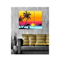 BednShines Digitally Printed Canvas Wall Frames Set Of 3 (EI-0093)