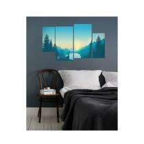 BednShines Digitally Printed Wall Canvas Frames Set of 4 (EI-0722)