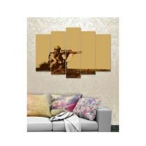 BednShines Digitally Printed Wall Canvas Frames Set of 5 (EI-0815)