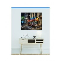 BednShines Digitally Printed Wooden Back Wall Canvas Frames Set Of 3 (EI-0333)