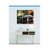 BednShines Digitally Wooden Back Printed Wall Canvas Frames Set Of 3 (EI-0030)