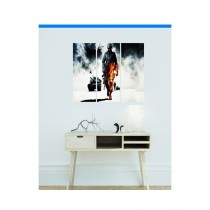BednShines Digitally Wooden Back Printed Wall Canvas Frames Set Of 3 (EI-0032)