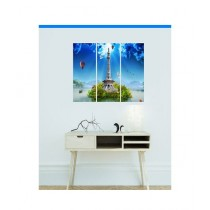 BednShines Digitally Wooden Back Printed Wall Canvas Frames Set Of 3 (EI-0065)