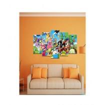 BednShines Printed Wall Canvas Frames Set of 5 Medium (EI-0569)