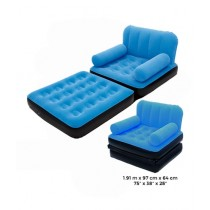 Bestway Inflatable 2 In 1 Air Sofa And Bed With Pump Blue