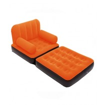 Bestway Inflatable 2 In 1 Air Sofa And Bed With Pump Orange