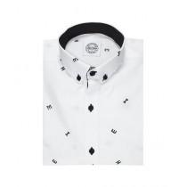 Mentor Club Casual Shirt For Man White