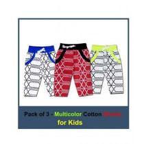 Bin Rizwan Checkered Three Quarter Shorts For Kids Pack Of 3