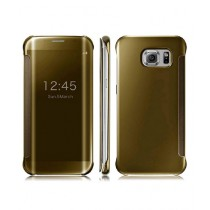 Bin Ali Clear View Standing Golden Cover For Gaaxy Note 5
