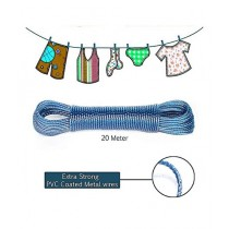 Brand Mall Heavy Duty Laundry Cloth Wire Blue