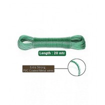 Brand Mall Heavy Duty Laundry Cloth Wire Green