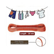 Brand Mall Heavy Duty Laundry Cloth Wire Red