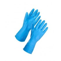Brand Mall Rubber Washing Gloves - Sky Blue