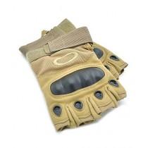 Brand Mall Tactical Half Finger Gloves For Men - Brown