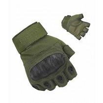 Brand Mall Tactical Half Finger Gloves For Men - Green