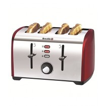 Breville 4 Slice Toaster Red (VTT391)