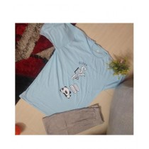 Singaar Collection Night Suit For Girl Sky Blue (0032)