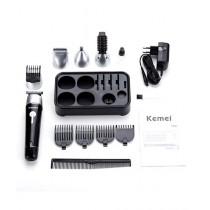 Kemei 10 In 1 Rechargeable Grooming Kit Black (KM 1015)