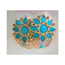 Bushrah Collection Tops Earring Blue (0042)