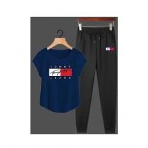 Jafri's Store Tommy Hilfiger Printed Track Suit For Men Blue (0391)