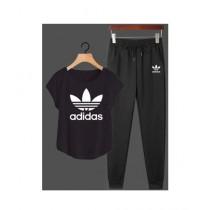 Jafri's Store Adidas Printed Track Suit For Men Black (0395)