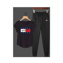 Jafri's Store Tommy Hilfiger Printed Track Suit For Men Black (0396)