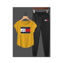 Jafri's Store Tommy Hilfiger Printed Track Suit For Men Yellow (0406)