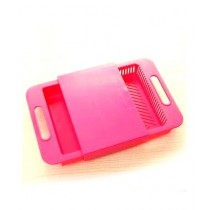 G-Mart 3 In 1 Sink Drain Basket With Cutting Board Pink