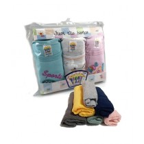 C-Tees Baby 3 Pcs Bodysuits and 6 Pcs Face Towel Pack Of 9