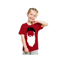 C-Tees Edhi Red T-Shirt For Kids (CKT10386)