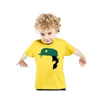 C-Tees Imran Khan Captain Yellow T-Shirt For Kids (CKT10385)