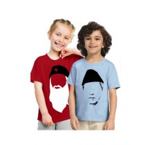 C-Tees Jinnah & Edhi T-Shirt For Kids Pack Of 2 (CKT10392)