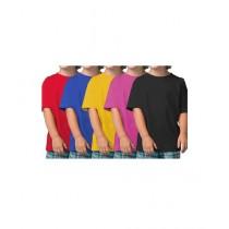 C-Tees Pack Of 5 Plain T-Shirt For Kids Multi (CKT10063)