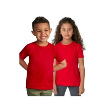 C-Tees Pack Of Two Plain T-Shirt For Kids Red (CKT10050)