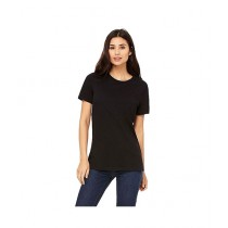 C-Tees Plain Black T-Shirt For Women (CKT10181)