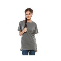 C-Tees Plain Gray T-Shirt For Women (CKT10180)