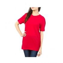 C-Tees Plain Red T-Shirt For Women (CKT10179)