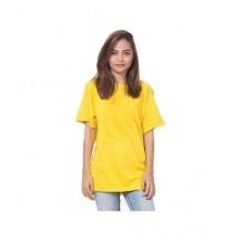 C-Tees Plain Yellow T-Shirt For Women (CKT10182)