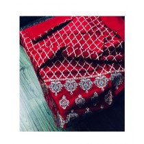 Keish Printed Silk 3-Pcs Women's Suit Red (KH-0001)