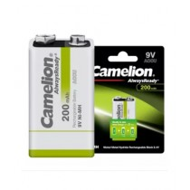 Camelion AlwaysReady 200mAh Rechargeable Battery 9V