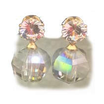 Campus Fin Zirconia Earring with Colorful Diamond Stone