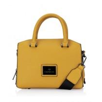 Caprese Cuba Satchel Small Handbag For Women Yellow