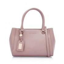 Caprese Lari Satchel Medium Hand Bag For Women Mauve